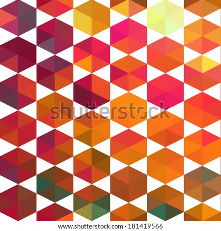 seamless pattern. Retro pattern of geometric shapes. Colorful mosaic backdrop. Geometric hipster retro background, place your text on the top of it. Retro triangle background