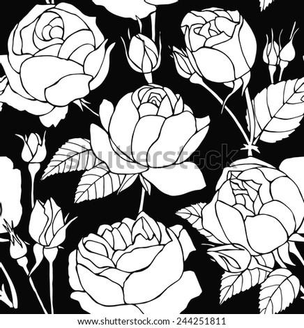 seamless pattern rose real