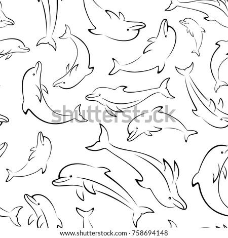 seamless pattern  sea creatures