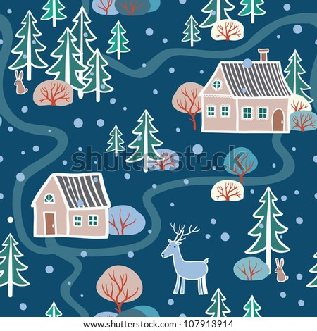 Seamless Pattern. seamless Christmas pattern .seamless pattern with New Year's.Winter.