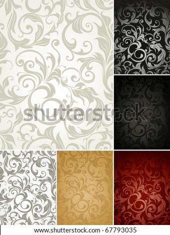 seamless pattern set of six