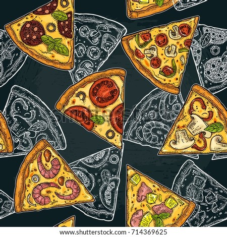 seamless pattern slice pizza...