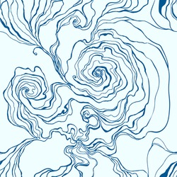 Seamless pattern, smoke, water flow. Fabric design, vector illustration