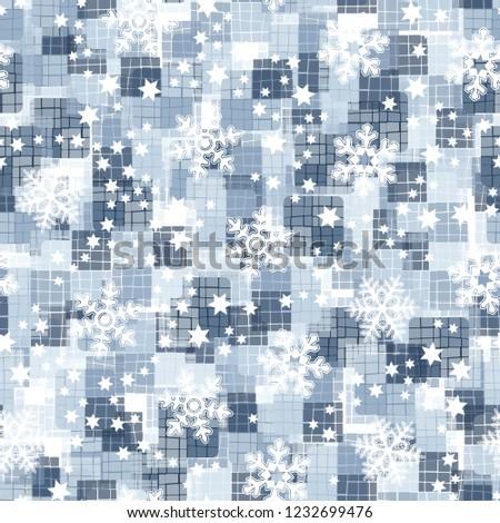 seamless pattern snowflakes