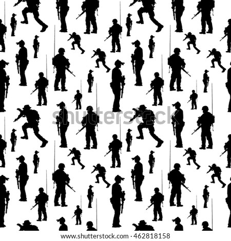seamless pattern soldier