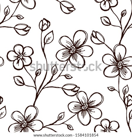 seamless pattern sprig with
