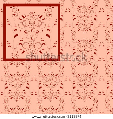 Seamless pattern, suitable for elegant paper prints and many other uses