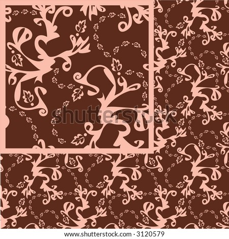 Seamless pattern, suitable for elegant paper prints and many other uses.  Load into a vector program and Edit?Define Pattern with this image