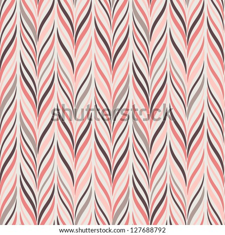 Seamless pattern. Texture of pastel wavy vertical stripes. Stylish abstract background. Modern wallpaper