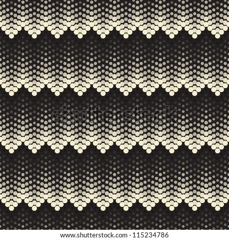 Seamless pattern. Tile volume texture made from points