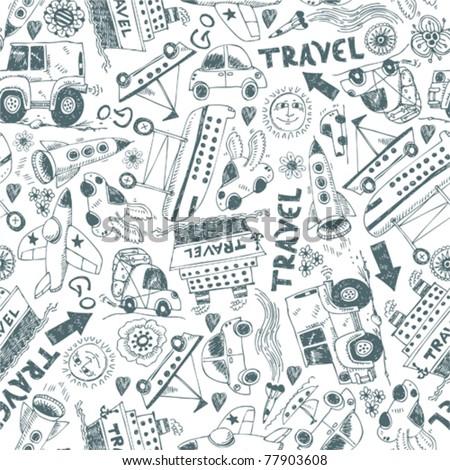 Seamless pattern - travel