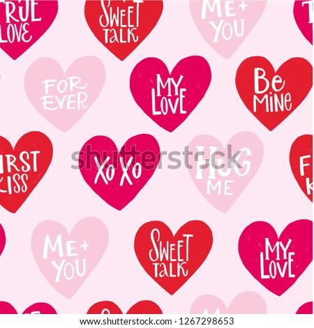 seamless pattern true love