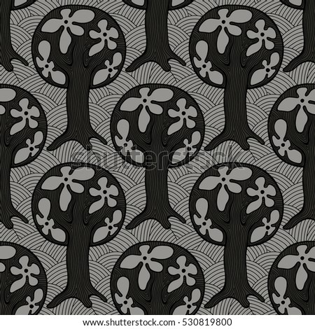 seamless pattern  vector hand