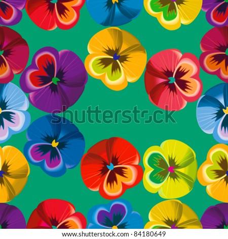 Seamless pattern violet flowers, file EPS.8 illustration.