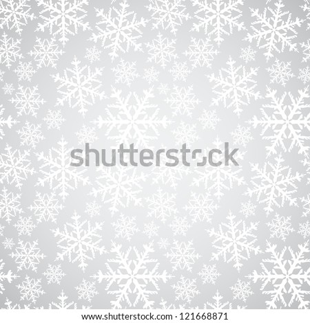 Seamless pattern. Winter background with snowflakes