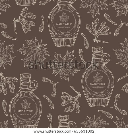 seamless pattern with a bottle