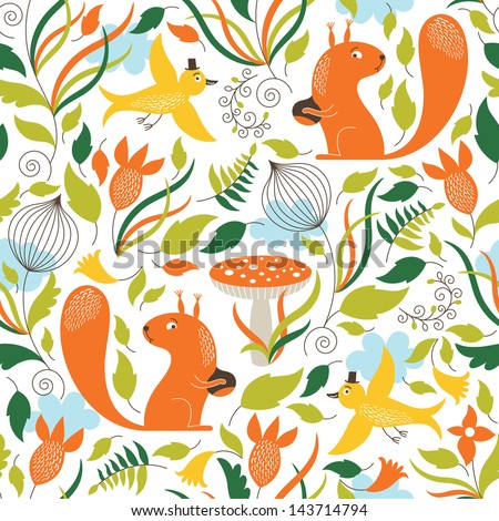 seamless pattern with a cute