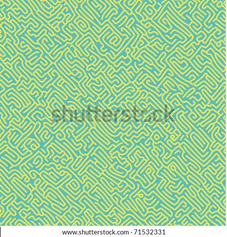 Seamless pattern with a labyrinth look like ant tunnels. Select all the art and drop it into your swatches palette to create an Adobe Illustrator pattern.