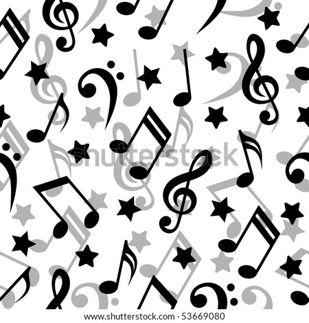 stock vector Seamless pattern with a music notes