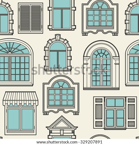 seamless pattern with a vintage