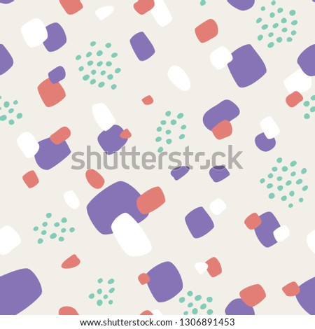Seamless pattern with abstract forms ornament