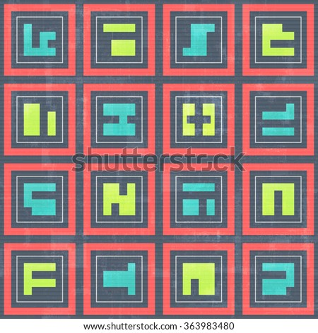 stock-vector-seamless-pattern-with-abstract-geometric-ornament-over-old-paper-texture-vector-vintage