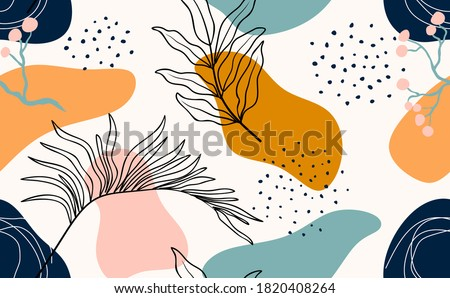 Seamless pattern with abstract leave. Photo stock ©