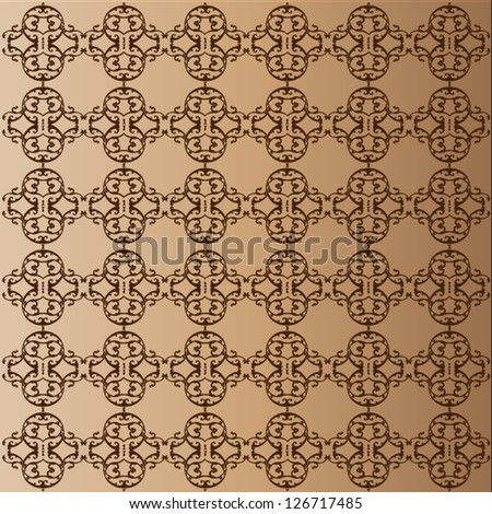 ShutterStock Seamless pattern with abstract ornament background ...