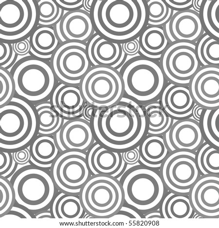 Seamless pattern with abstract symbols