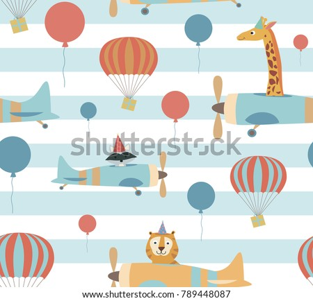 seamless pattern with air...
