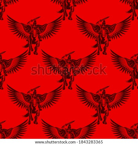 seamless pattern with ancient