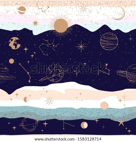 seamless pattern with astrology