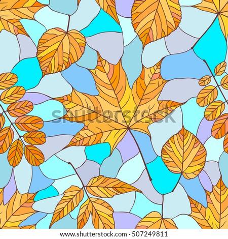 seamless pattern with autumn