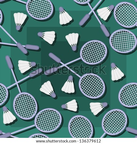 seamless pattern with badminton