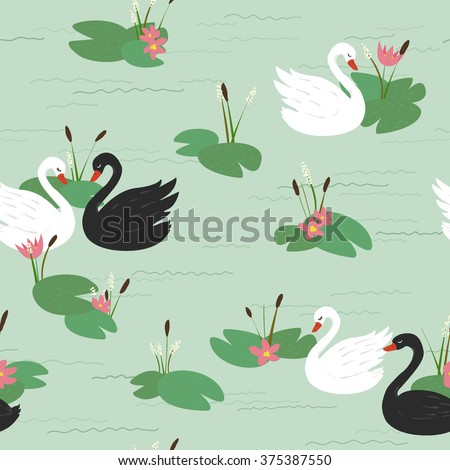 seamless pattern with beautiful