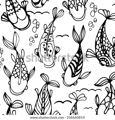 seamless pattern with black and white