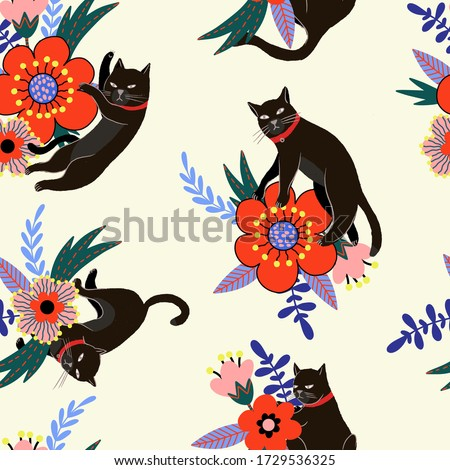 seamless pattern with black