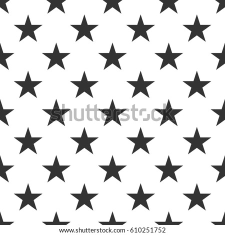 Seamless pattern with black stars on white background. Vector illustration design for textile, wallpaper, web, fabric