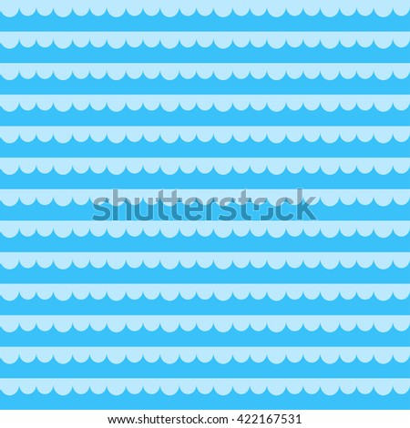 seamless  pattern with blue sea