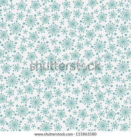 Seamless pattern with blue snowflakes. Vector illustration