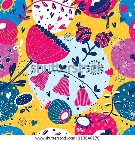 Seamless pattern with bright colors.