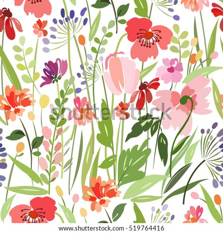 seamless pattern with bright