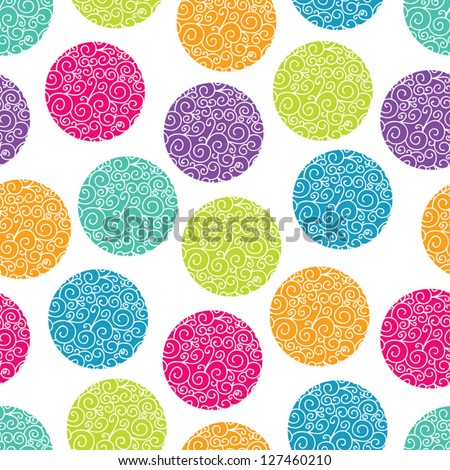 Seamless pattern with bright polka dot. Seamless pattern can be used for wallpaper, pattern fills, web page background, surface textures.