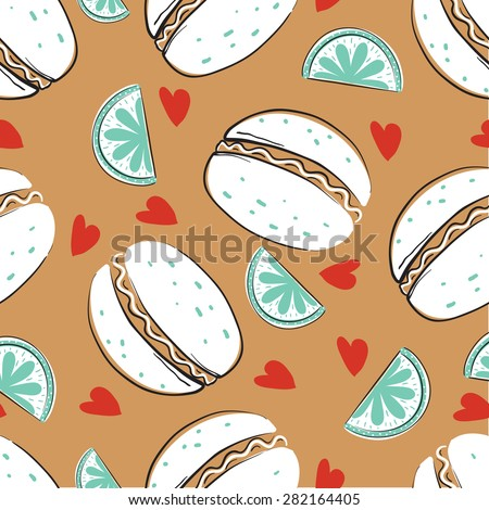 seamless pattern with burgers