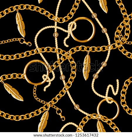 Seamless pattern with chain for fabric design.