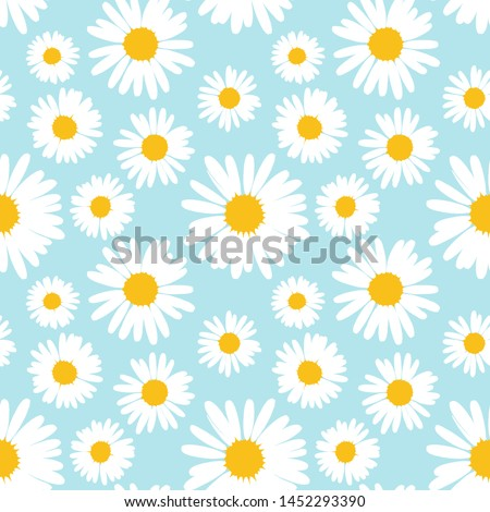 seamless pattern with chamomile