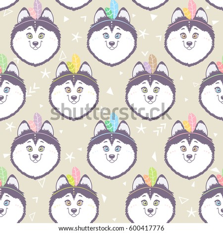 seamless pattern with character