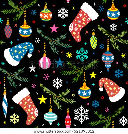 seamless pattern with christmas