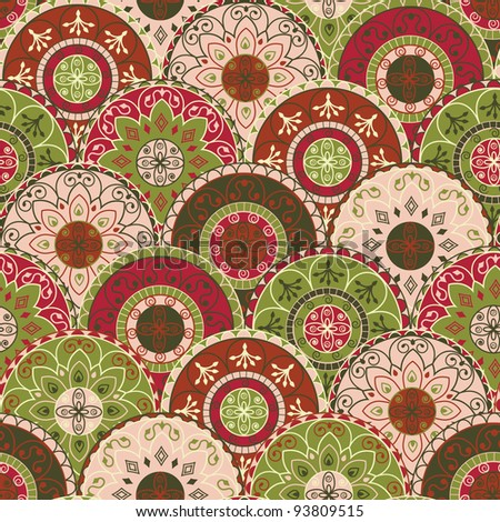 seamless pattern with circles in retro style