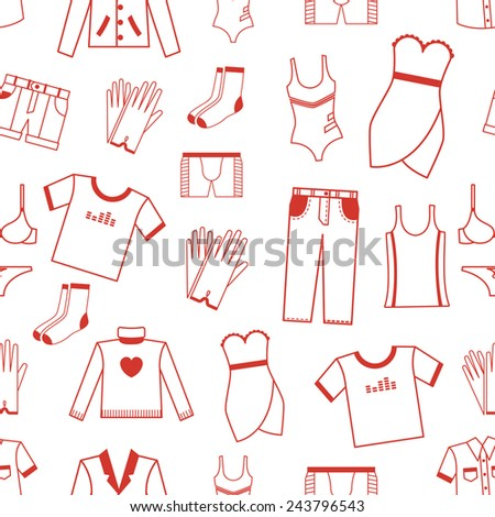 seamless pattern with clothes